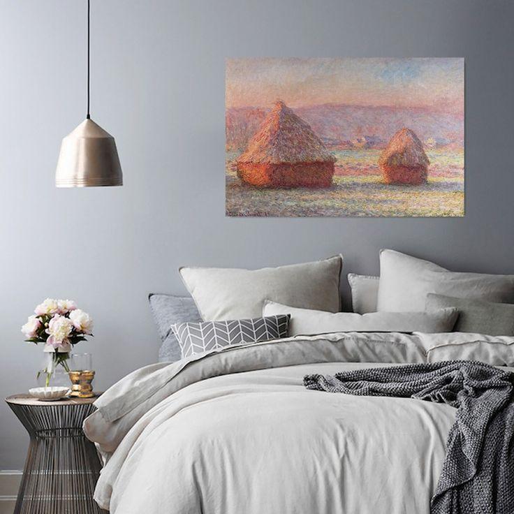 Reprodukcja obrazu C. Moneta – White Frost Sunrise, Obraz na płótnie - Canvas