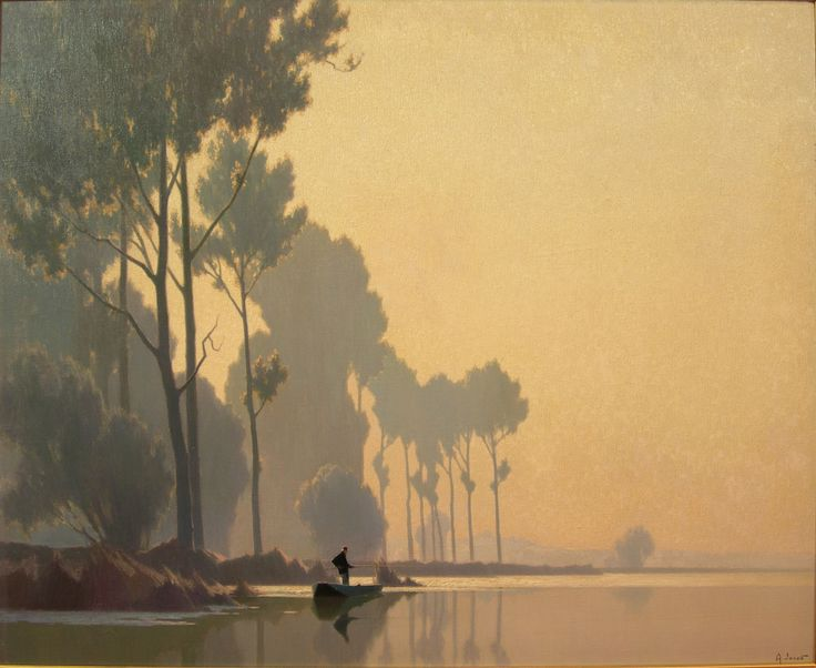 ALEXANDRE JACOB (FRENCH 1876-1972))   EARLY MORNING  Signed, oil on canvas  64cm x 80cm (25in x 31.5cm )