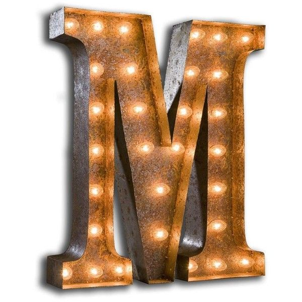 Vintage Marquee Lights 24 Vintage Marquee Letter Light By ($229) ❤ liked on Polyvore featuring home, lighting, letters, colored lights, metal light, vintage lamps, artificial light and metal lamp