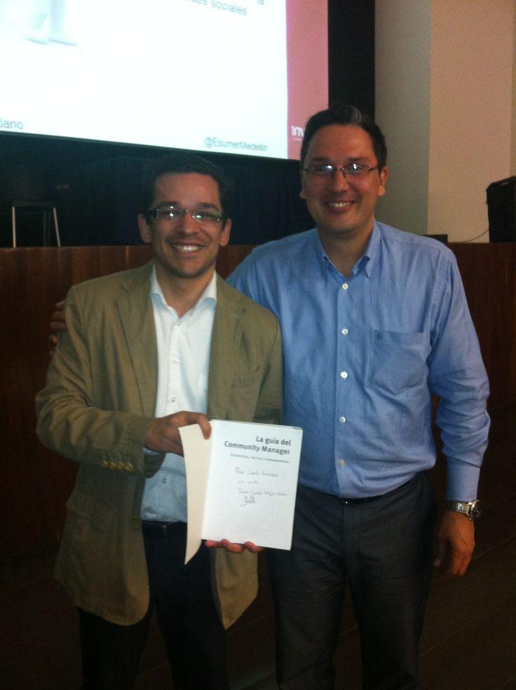 Juan Carlos Mejia Llano uno de los mejores en Marketing Digital made in Colombia y Medellin. @JuancMejíaLlano en su visita a @esumermedellin
