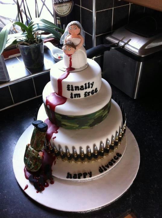 Divorce cake?? I think it's kinda funny.
