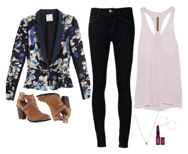 Felicity Smoak Inspired Outfit by daniellakresovic on Polyvore featuring Enza Costa, Rebecca Taylor, Ström, Links of London, Lana and Felicity Brown