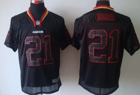 Cheap Nike San Francisco 49ers #21 Frank Gore Lights Out Black Elite  hot sale