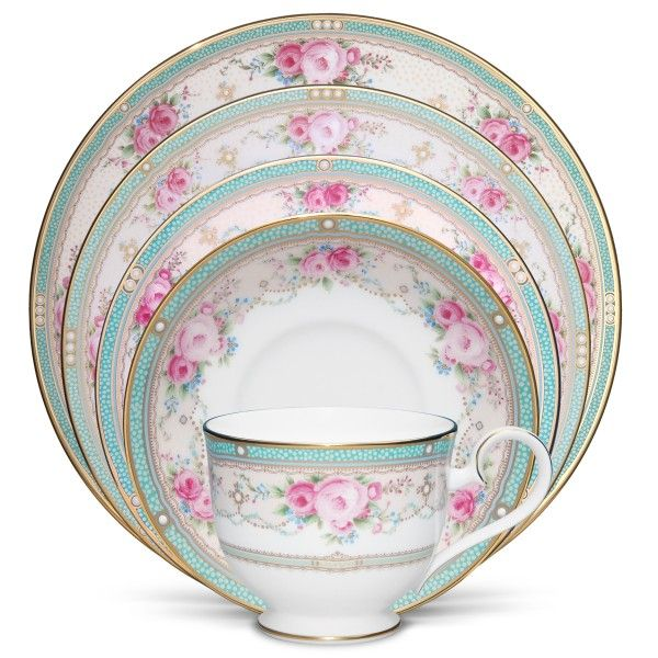 Noritake Palace Rose 5 Piece Place Setting