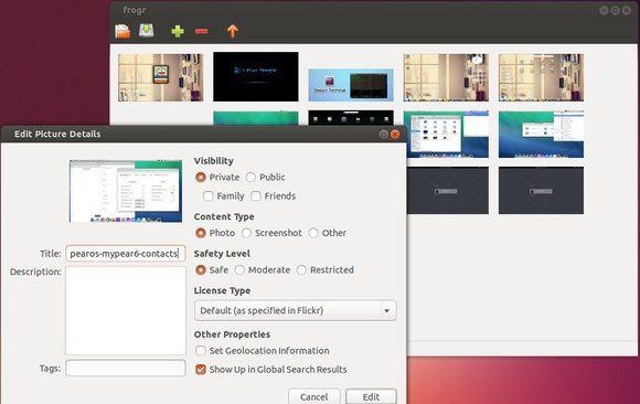 Gerenciador de fotos do Flickr: Instale Frogr no Ubuntu e seus derivados
