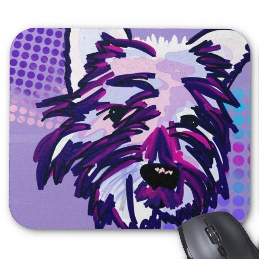 Cute Painted Dog Mousepads