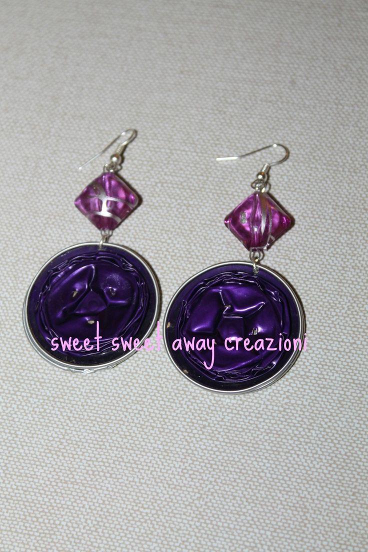 orecchini viola nespresso : Orecchini di sweet-sweet-away-creazioni