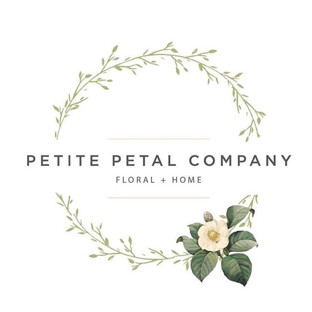 One more post because we're so excited for our client Petite Petal Co.'s new flower shop to open in 2 weeks! Logo + branding   Deluxemodern Design.