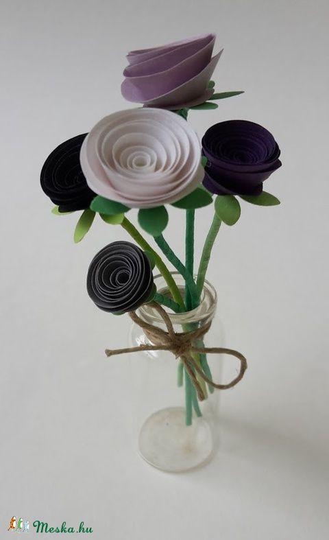 Kis virágcsokor  (gyongypapir) - Meska.hu