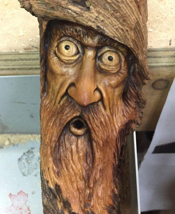 Wood wall art moonshiner spirit carving