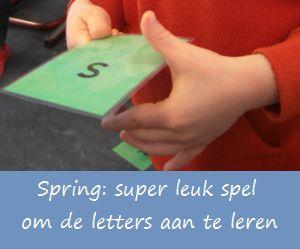 Spring! spel om de letters te oefenen
