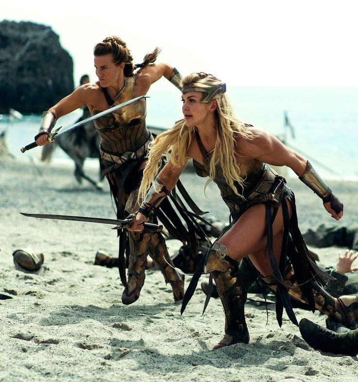 Brooke Ence as the Amazon warrior Penthiselea. in Wonder Woman