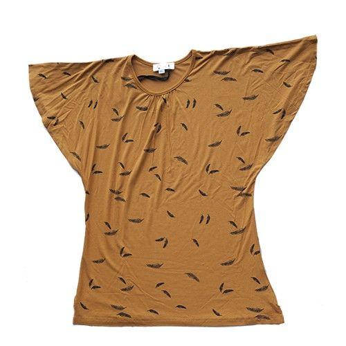 jurk bruin veertjes