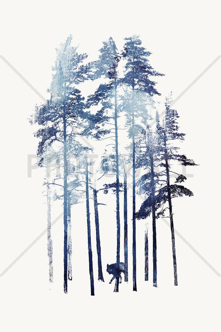 Winter Wolf - Fotobehang & Behang - Photowall
