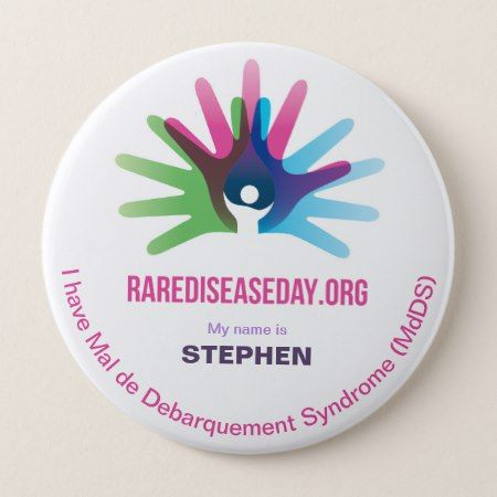 Rare Disease Day, Personalize All, Round Button - click to get yours right now!