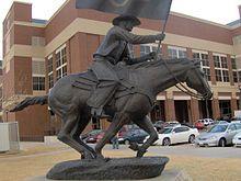 Spirit Rider Statue...Heaven (Gallagher-Iba Arena/Eddie Sutton Court) in the background