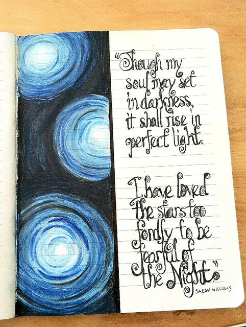 The second half of this quote is almost always misattributed to Galileo, who did *not* say it.  I wanted to do a page for the real author, and to include the previous stanza, which I think is absolutely beautiful.  Micron pen, Prismacolor.  2014, Dianne Sylvan.