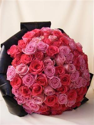 Buchet 199 trandafiri roz