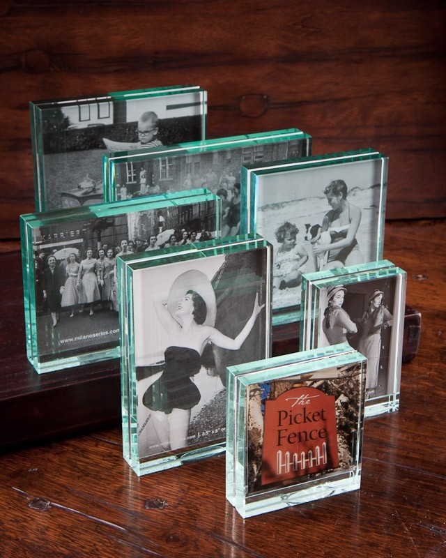 These block glass milano series clarity picture frames are for Glass block window frame