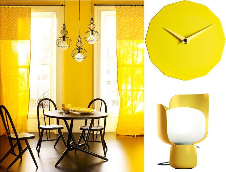Couleur phare de la saison, le jaune illumine notre déco ! Utilisée en petites touches ou façon color-block, cette teinte apporte une note tonique et rayonnante à la maison.