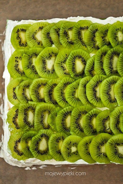 Ciasto cytrynowe z kremem i kiwi