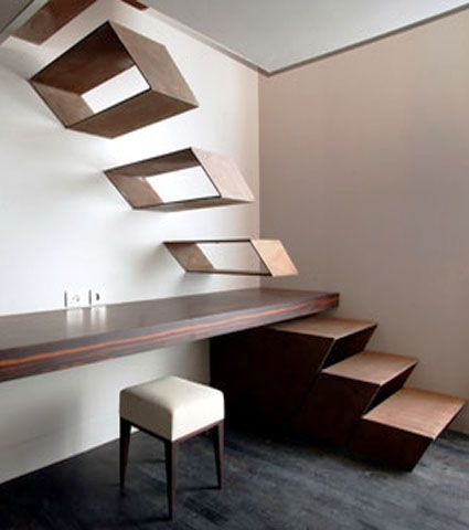 Interior Stair Ideas | 15 Beautiful Staircase Designs, Stairs in Modern Interior Design My dog would so Not go up these, therefore they are of no use except as stunning art