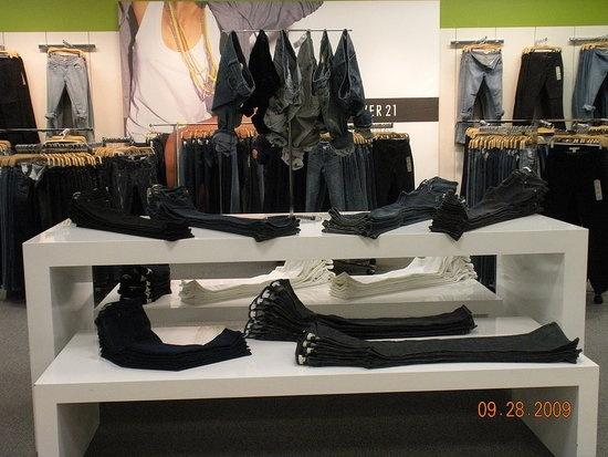 jeans display.