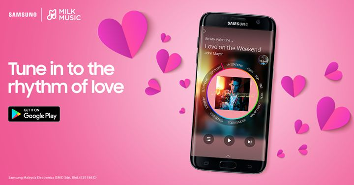 This Valentine's Day, what's better than drifting away in a warm sea of love? Tune in to Be My Valentine on your Samsung Milk Music app and be struck by Cupid's arrow.  Tune in now: http://spr.ly/61858pHvV