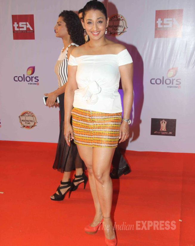 Shruti Ulfat In A White Off shoulder Blouse And Mini Skirt