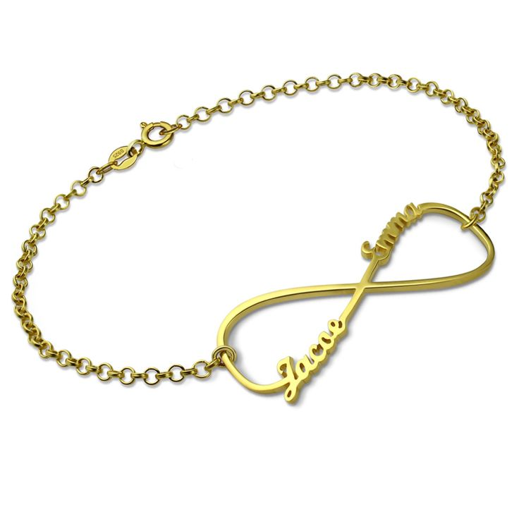 Infinity Name Bracelet Gold Color Personalized Bracelet with Any Name Infinity Symbol Bracelet for Women