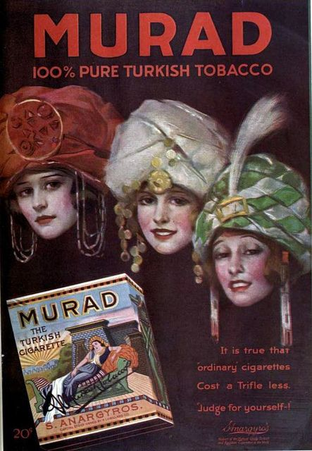 Vintage Advert for Murad Cigarettes Aug 1919 by CharmaineZoe, via Flickr