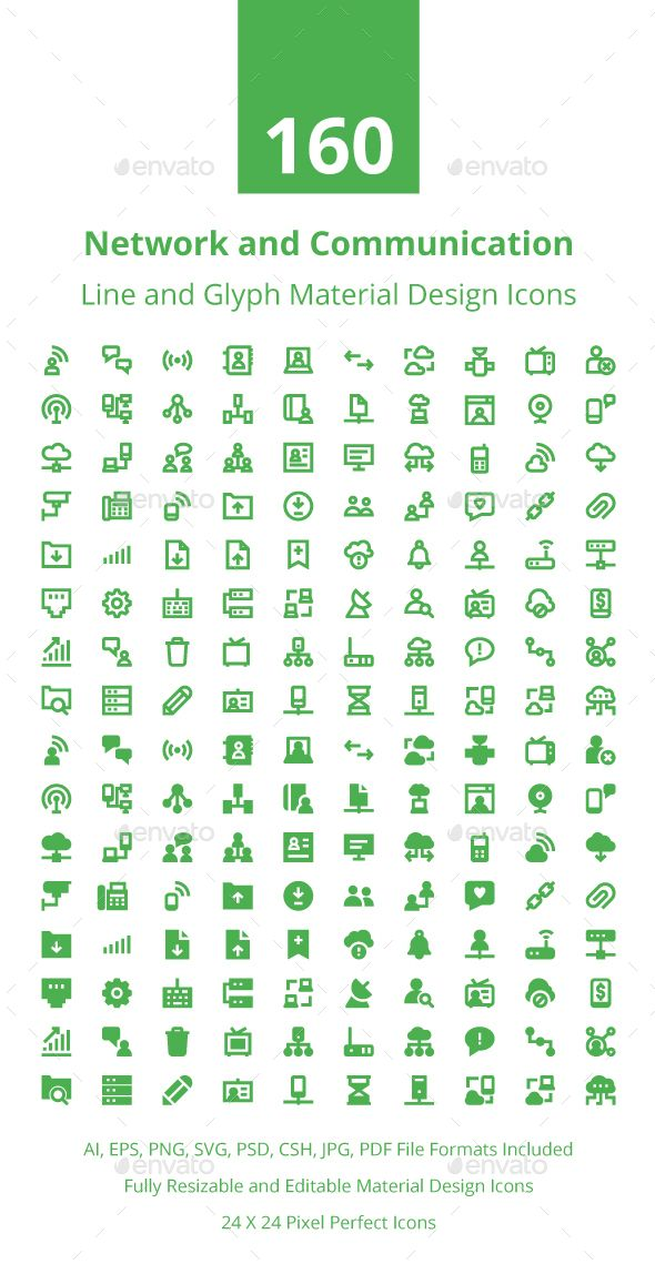 220 Network Technology Material Icon