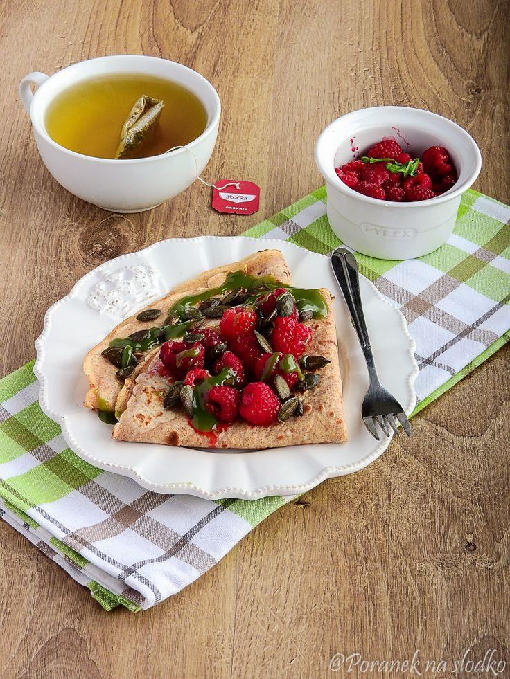 Naleśniki jaglane. - Poranek na słodko | przepisy, inspiracje, śniadania, zdrowa żywność