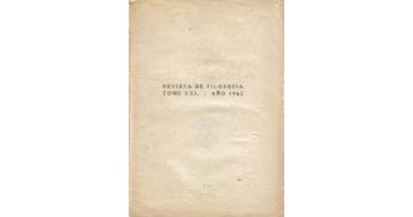 Libreria Alzofora, Titulo: REVISTA DE FILOSOFIA TOMO XXI AÑO 1962 Autor: VV.AA Clasificación:  Editorial :MADRID Precio :8