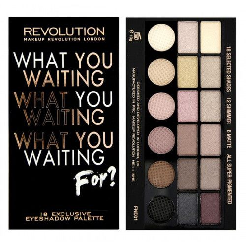 Makeup Revolution Paletka očných tieňov Salvation Palette What You Waiting For
