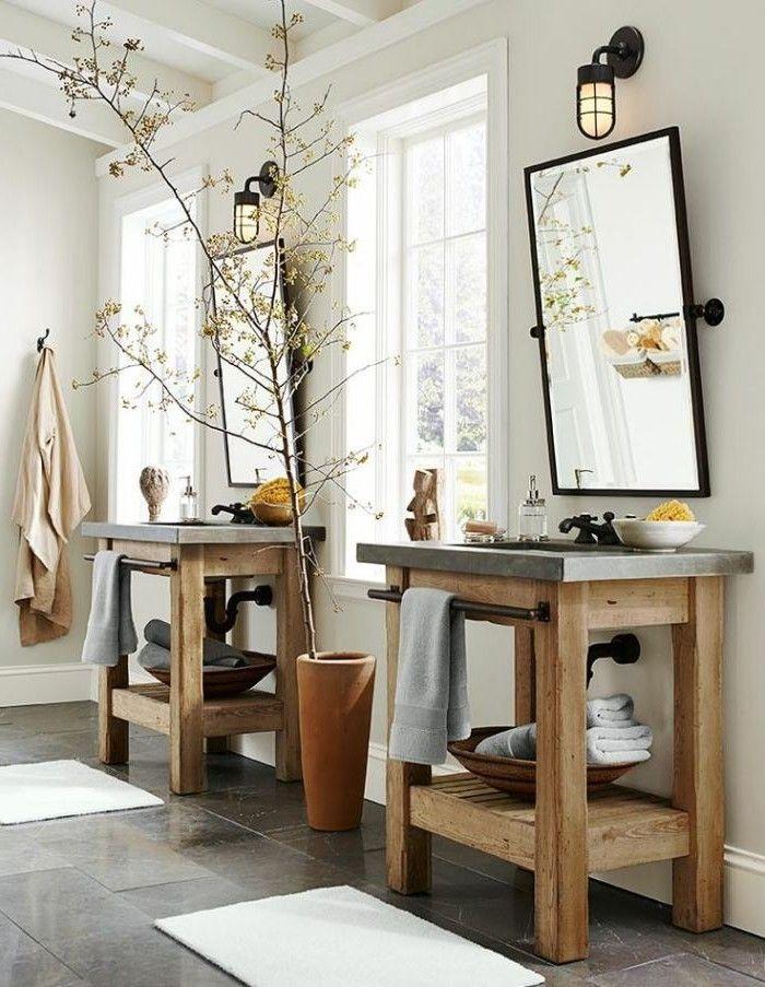 Die besten 25+ Badezimmermöbel holz Ideen auf Pinterest | Ikea ... | {Waschtischunterschrank holz antik 36}