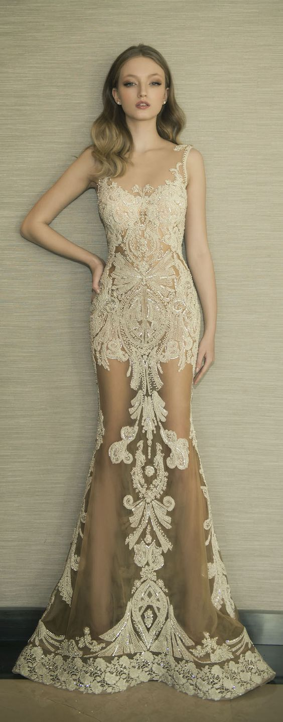 Dany Mizrachi 2016 Lace Wedding Dress / http://www.deerpearlflowers.com/lace-wedding-dresses-and-gowns/
