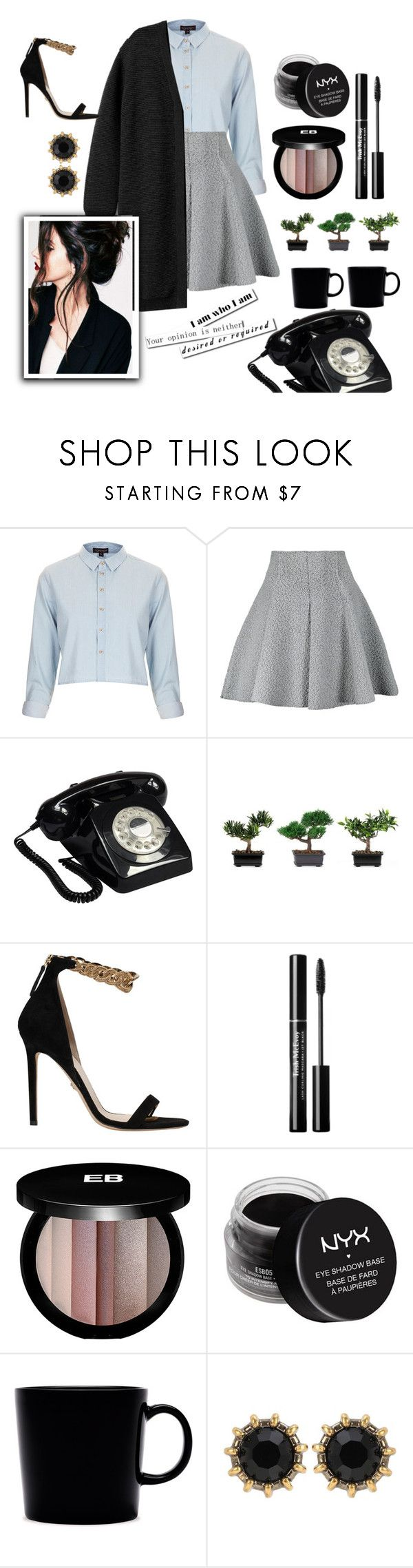 """""""Depois das seis"""" by thais-santana-1 ❤ liked on Polyvore featuring Topshop, M Missoni, GPO, Nearly Natural, Versace, Edward Bess, NYX, iittala and Gucci"""