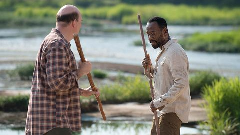 "(photo courtesy of amctv.com) The Walking Dead Episode 4: ""Here's Not Here"" Sullywood Rating: 7/10 What We Learned: Looks like we're playing a game called Now and Then with Morgan Morgan would not ..."