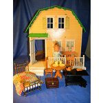 1977 vintage dollhouses for sale | Vintage 1977 HOLLY HOBBIE 2 Story Doll House, Furniture