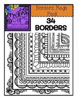 BORDERS MEGA PACK 2 {CREATIVE CLIPS DIGITAL CLIPART} - TeachersPayTeachers.com