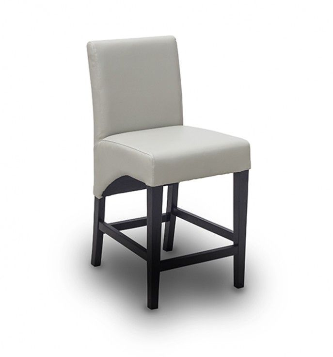 Modern Grey Leather Counter Stool Iometro Counter