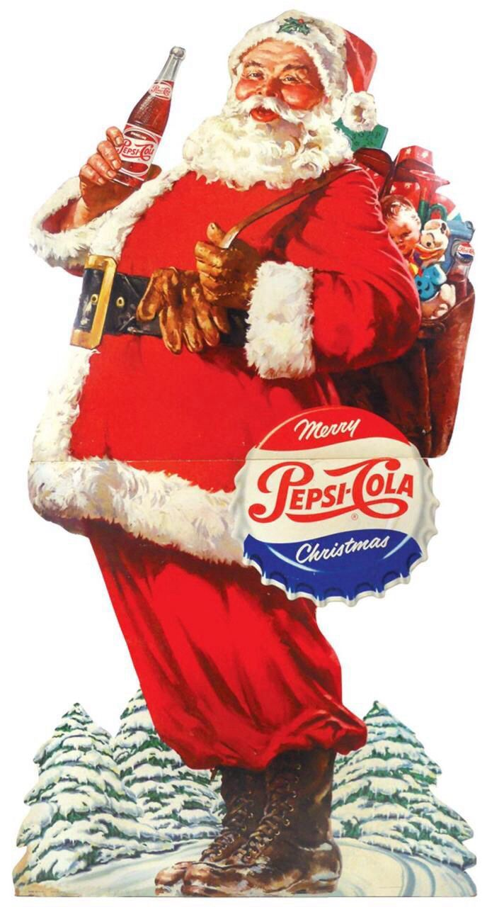 Vintage Pepsi Ad With Santa Vintage Christmas