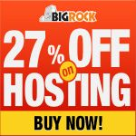 Are you planning to start your own website with Do it yourself website builder by Bigrock??.Then wait,we have something for you.Now You can grab your builder kit with our 27 % discount code.And also dont forget to redeem 27% discount coupon of Bigrock Hosting.Check out this post to get all these things. #bigrockdiscountcoupon http://www.frip.in/bigrock-in-maximum-27-discount-coupon-june-2013/