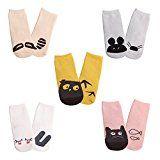 Baby Non Skid Slip Socks Cotton Toddler Socks With Grip For Kids Boys Girls 5 Pack