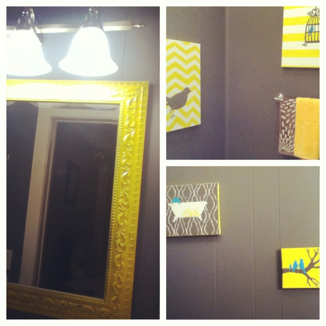 1000 Ideas About Yellow Gray Bathrooms On Pinterest