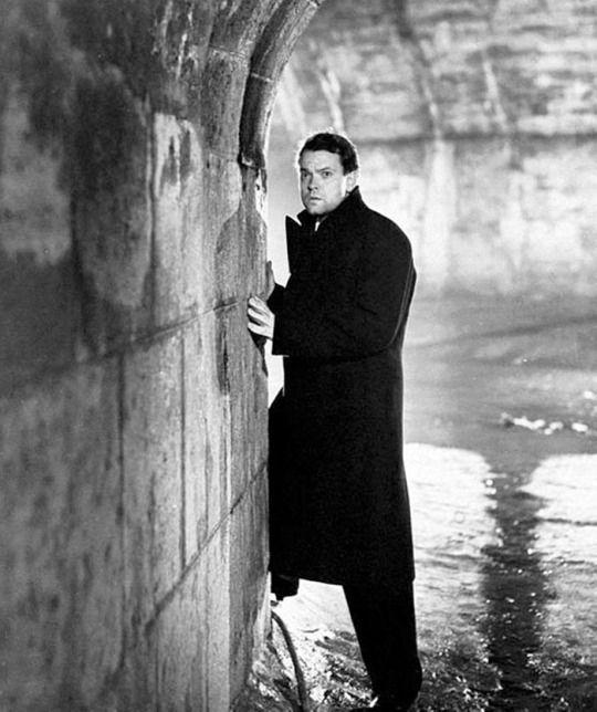 """Orson Welles en """"El Tercer Hombre"""" (The Third Man), 1949"""