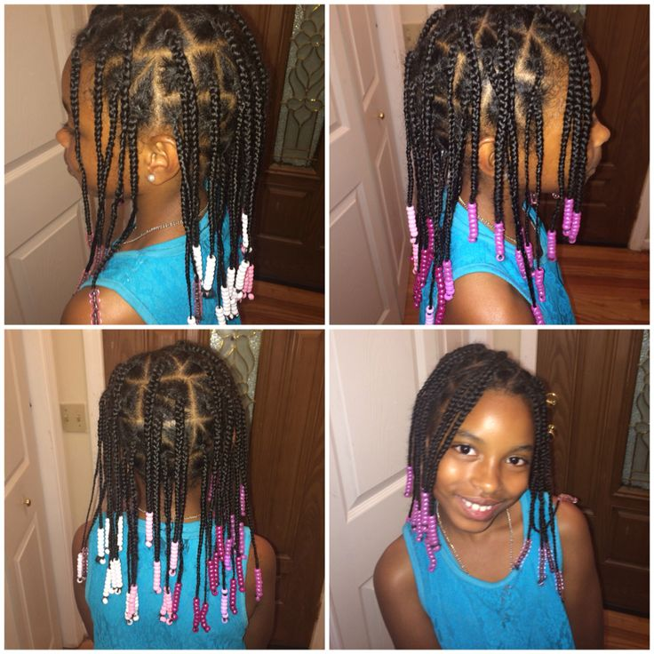 Box Braids With Beads For Little Girls Hair Styles Kids