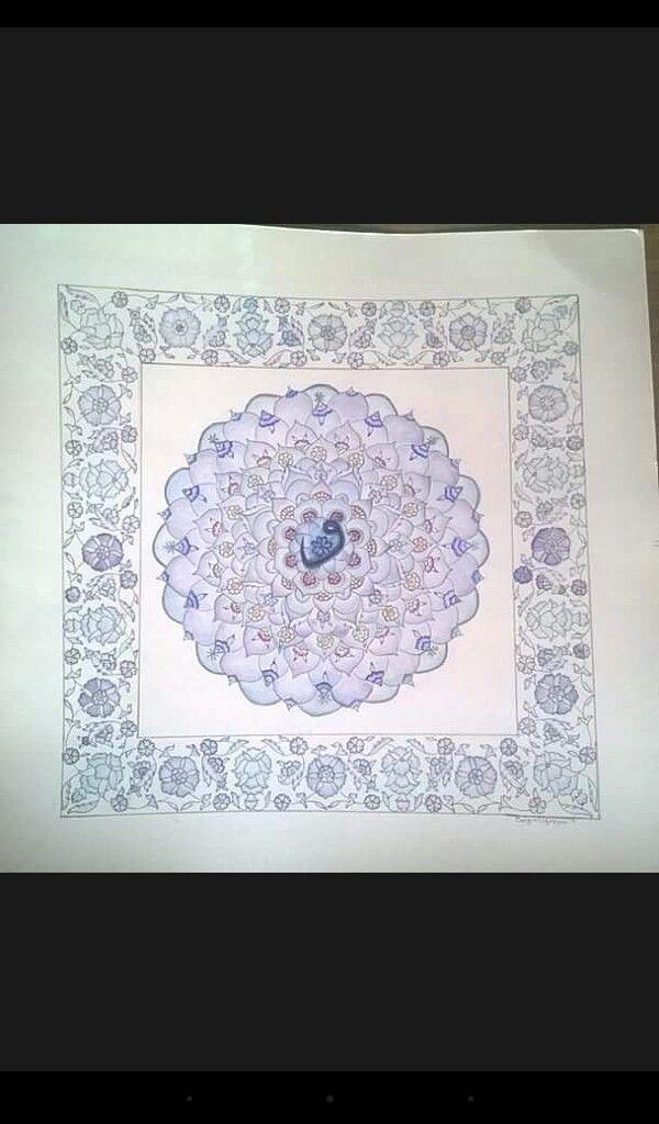 mandalam etnik desen ve motiflerden olustu.. acriylic#watercolors#