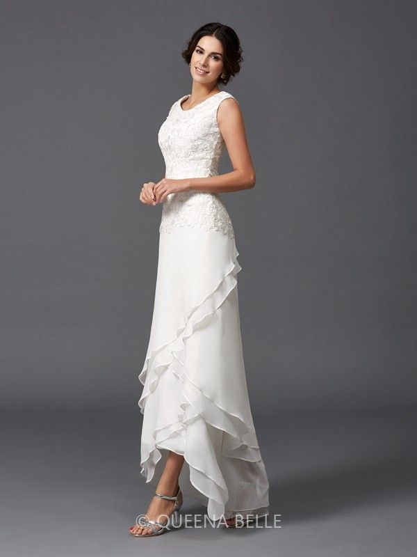 57028aa335 A-Line Princess Scoop Sleeveless Lace Ankle-Length Chiffon Mother of the Bride  Dresses - Mother of the Bride Dresses with Jacket - Mother of the Bride ...